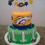 broncos football cake
