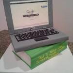 computer laptop cake