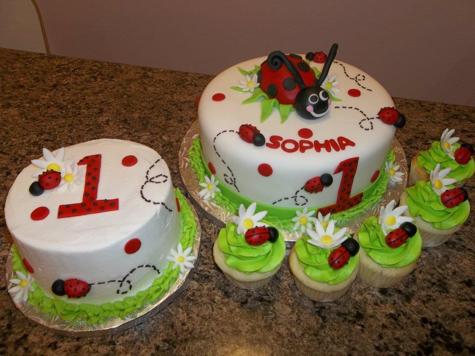 Ladybug Baby Shower Cake Designs