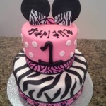 minnie mouse zebra cake