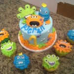 monster cake cupcakes