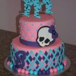 monster high cake pink