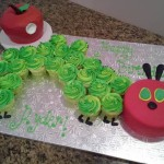 very hungry catapillar cake
