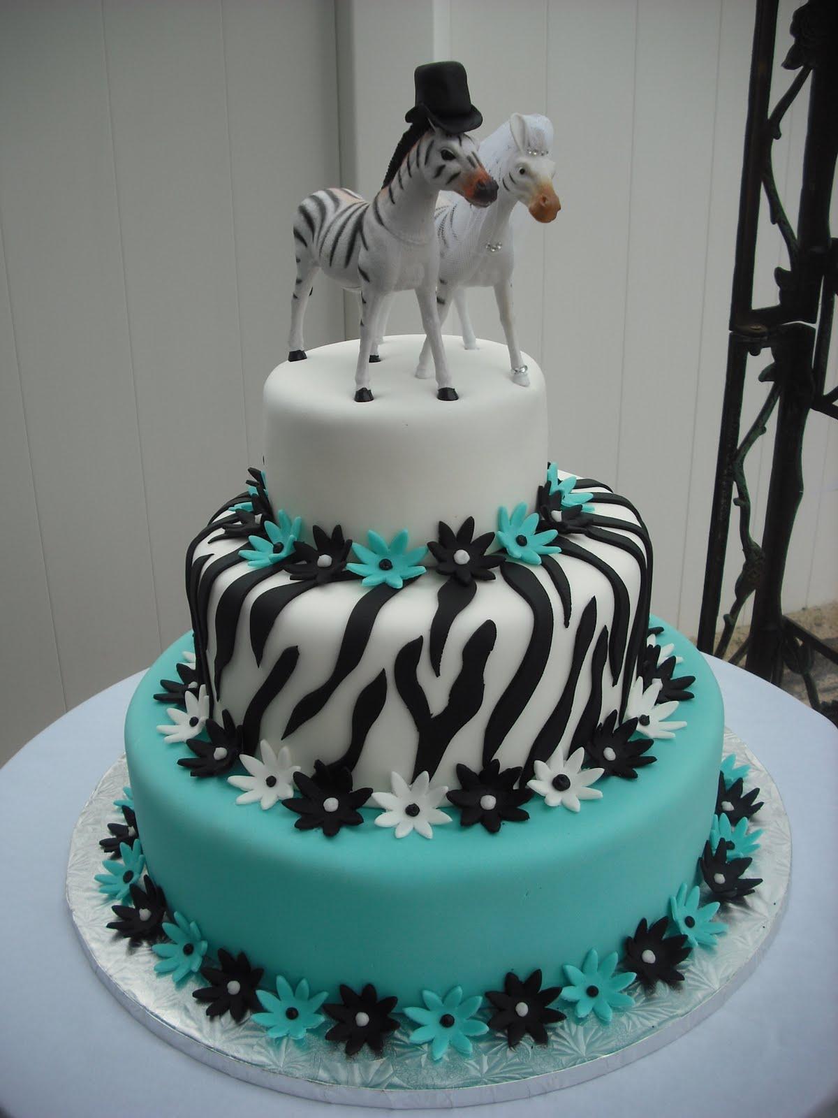 Zebra Wedding Cake Toppers