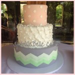 mint chevron cake